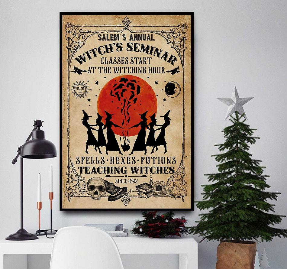 Salem's annual witch's seminar vintage gothic girl magic poster