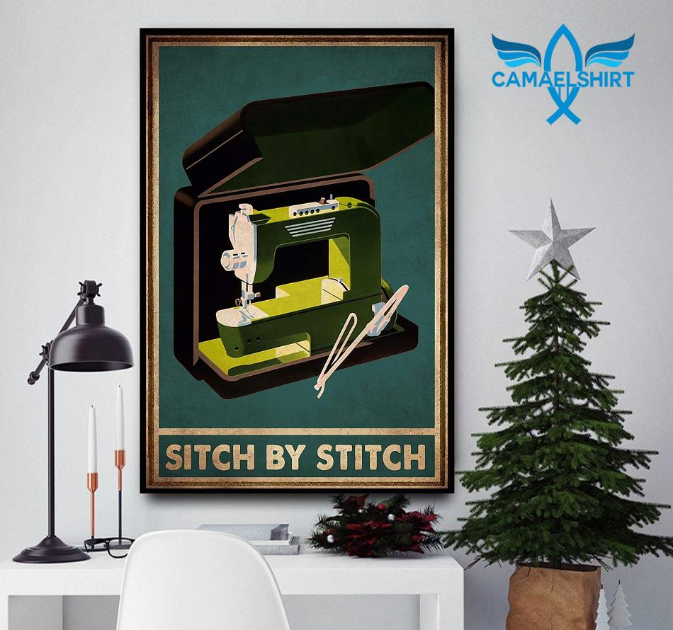 Sewing sitch by stich poster