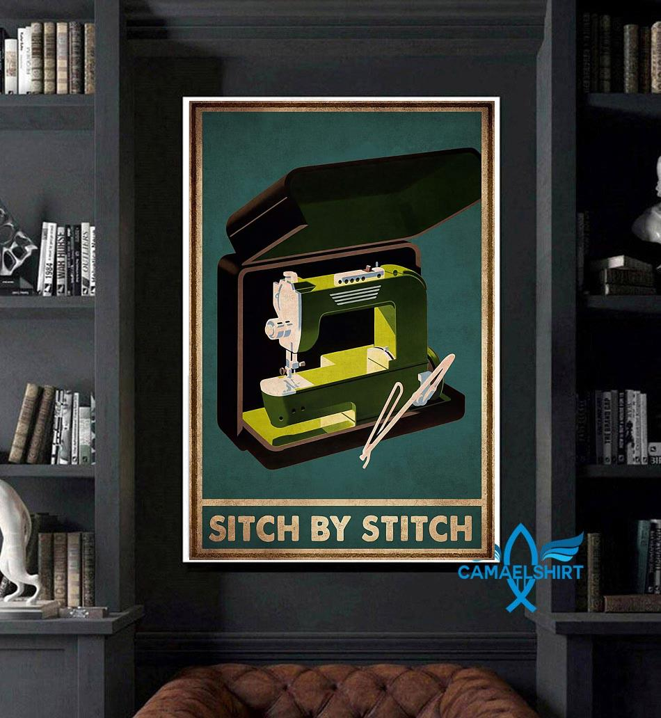 Sewing sitch by stich poster art
