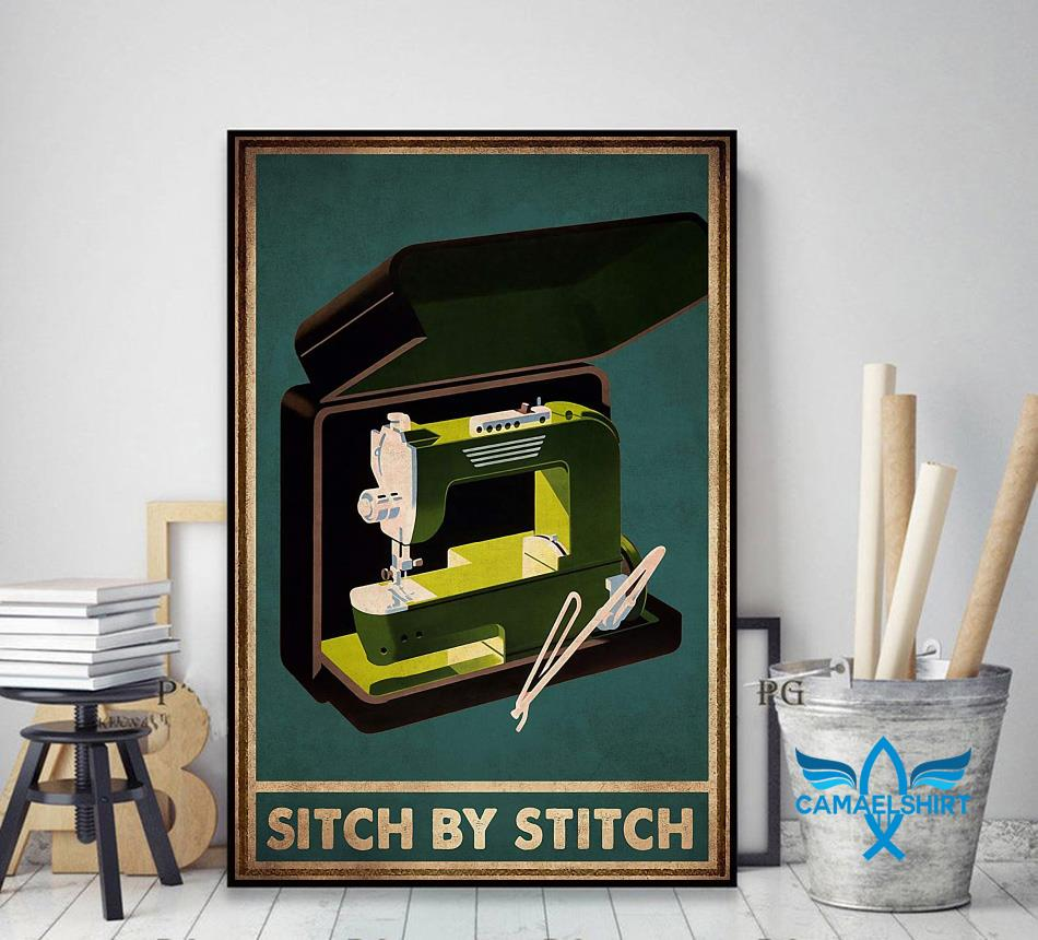 Sewing sitch by stich poster decor art