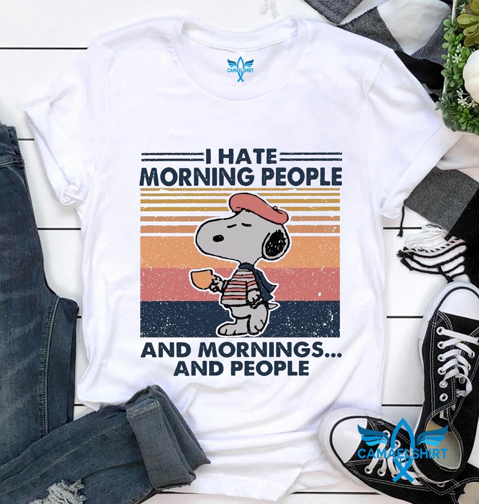 Snoopy I hate morning people and mornings and people vintage t-shirt