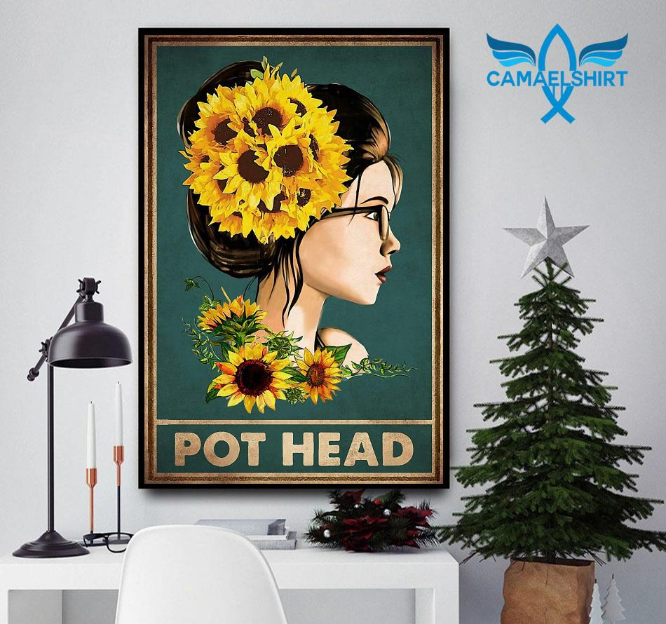 Sunflower girl pot head poster
