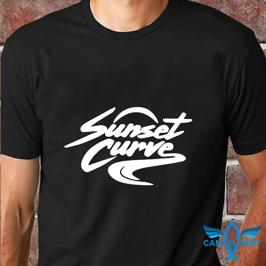 Sunset Curve white and black t-shirt