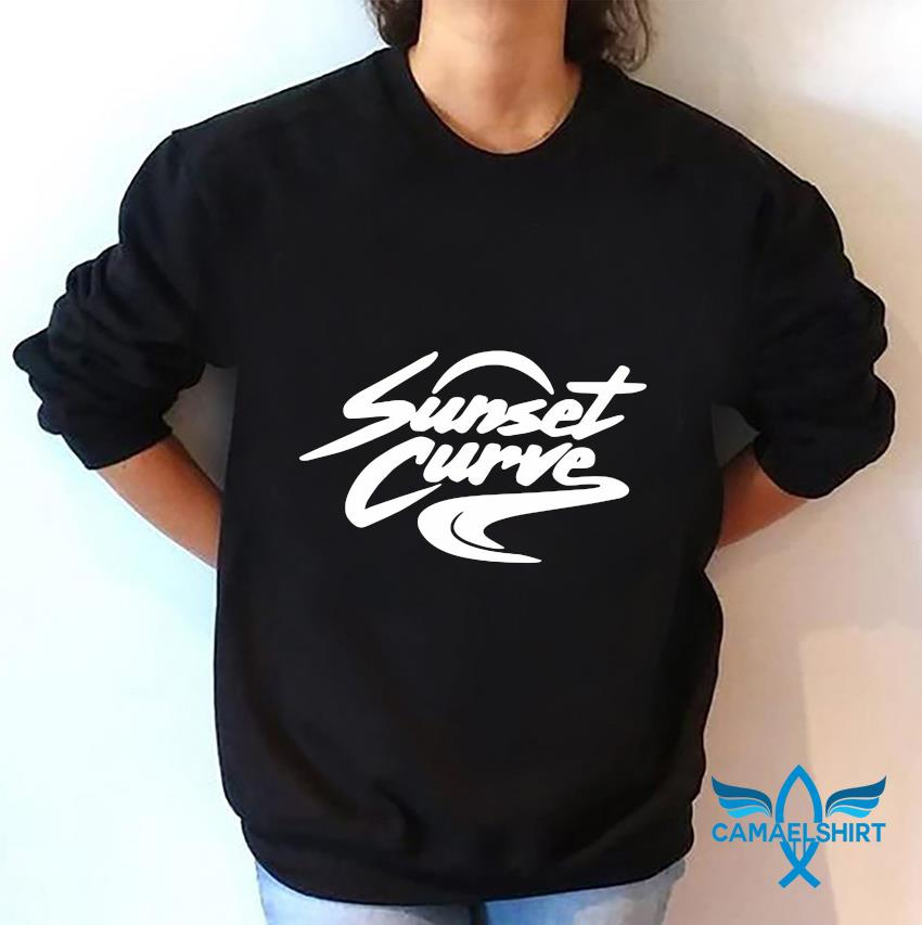Sunset Curve white and black t-s sweatshirt