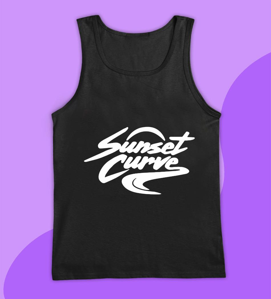 Sunset Curve white and black t-s tank top