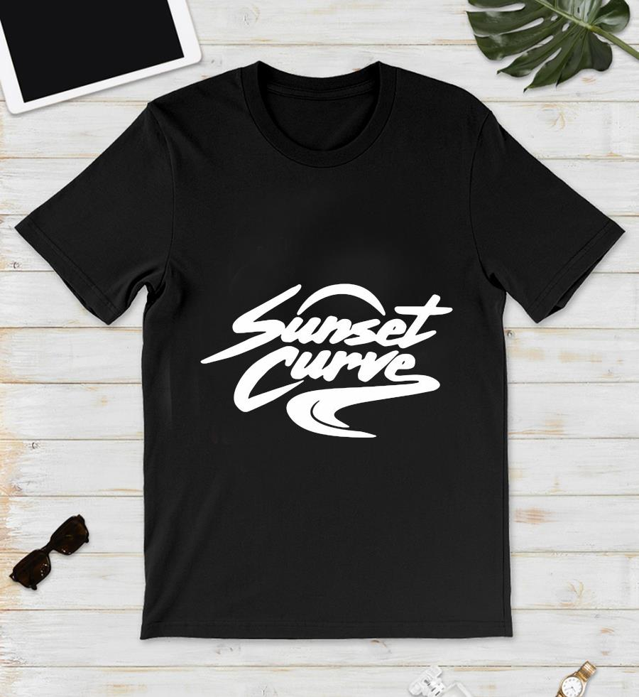 Sunset Curve white and black t-s unisex