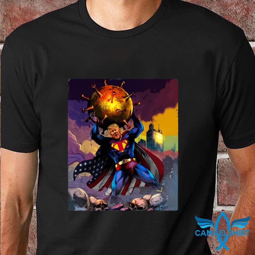 Superman Trump fighting t-shirt