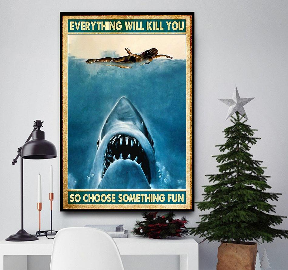 Details about  /Swimming Choose Something Fun Poster Wall Art
