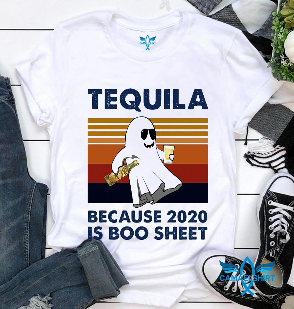 Tequila because 2020 is boo sheet Halloween vintage t-shirt
