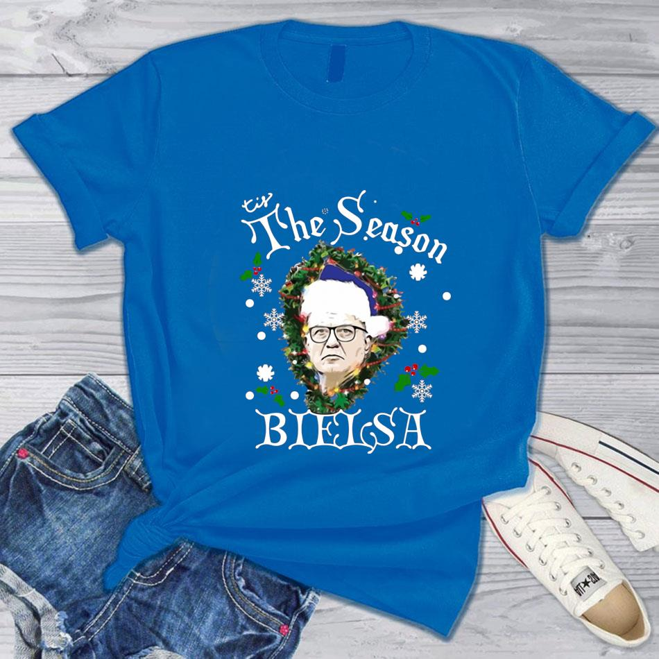 Tis the Season Bielsa Christmas t-s blue