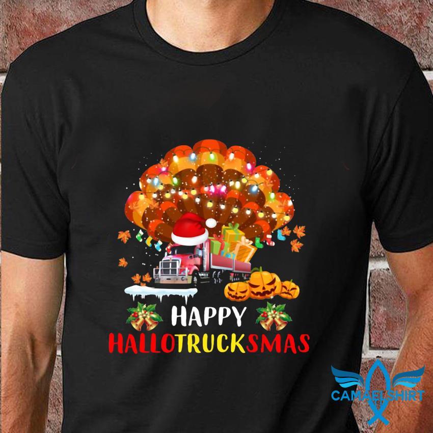 Trucker Happy Hallotrucksmas t-shirt