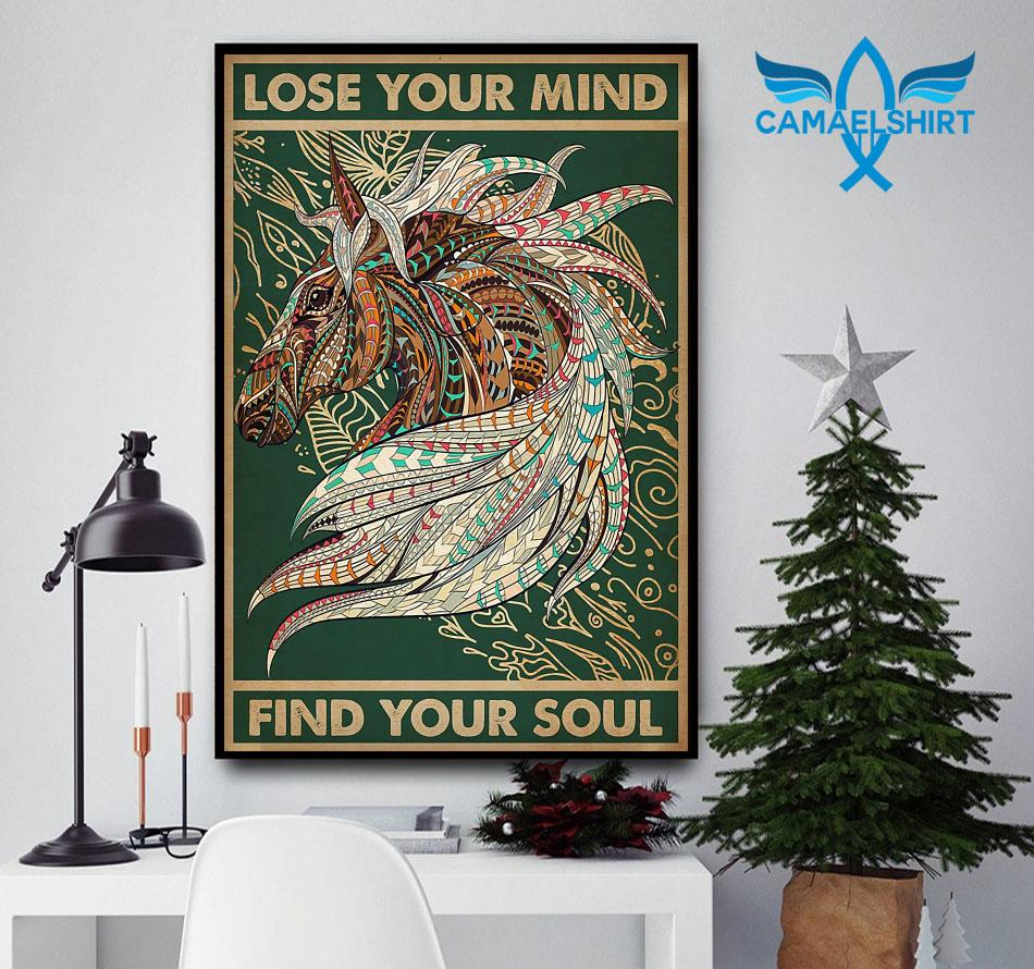 Unicorn Native lose your mind find your soul poster