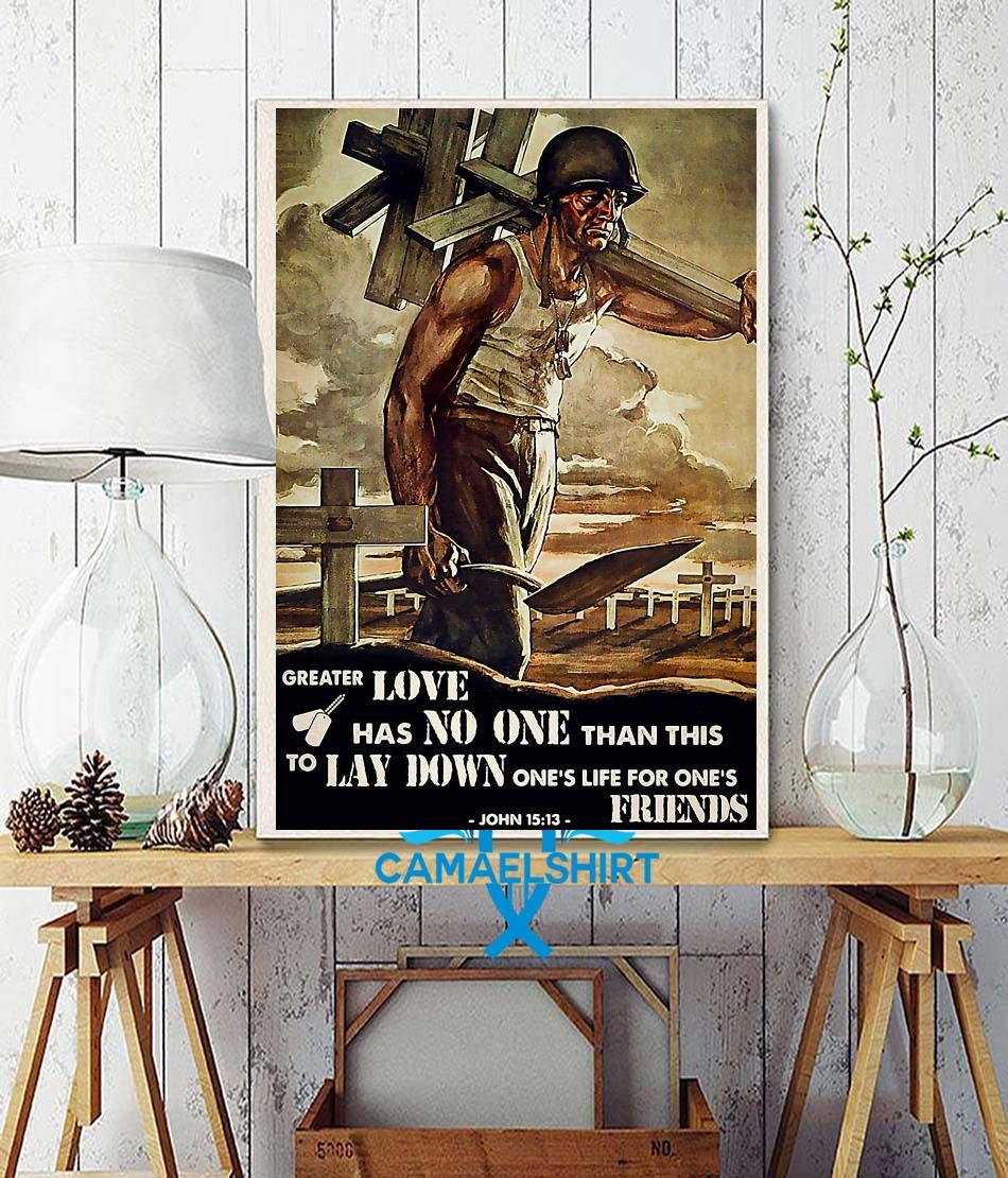 Veteran then I heard my voice of the Lord poster wall decor