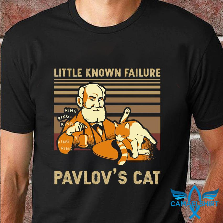 Vintage little known Failure Pavlov's cat t-shirt