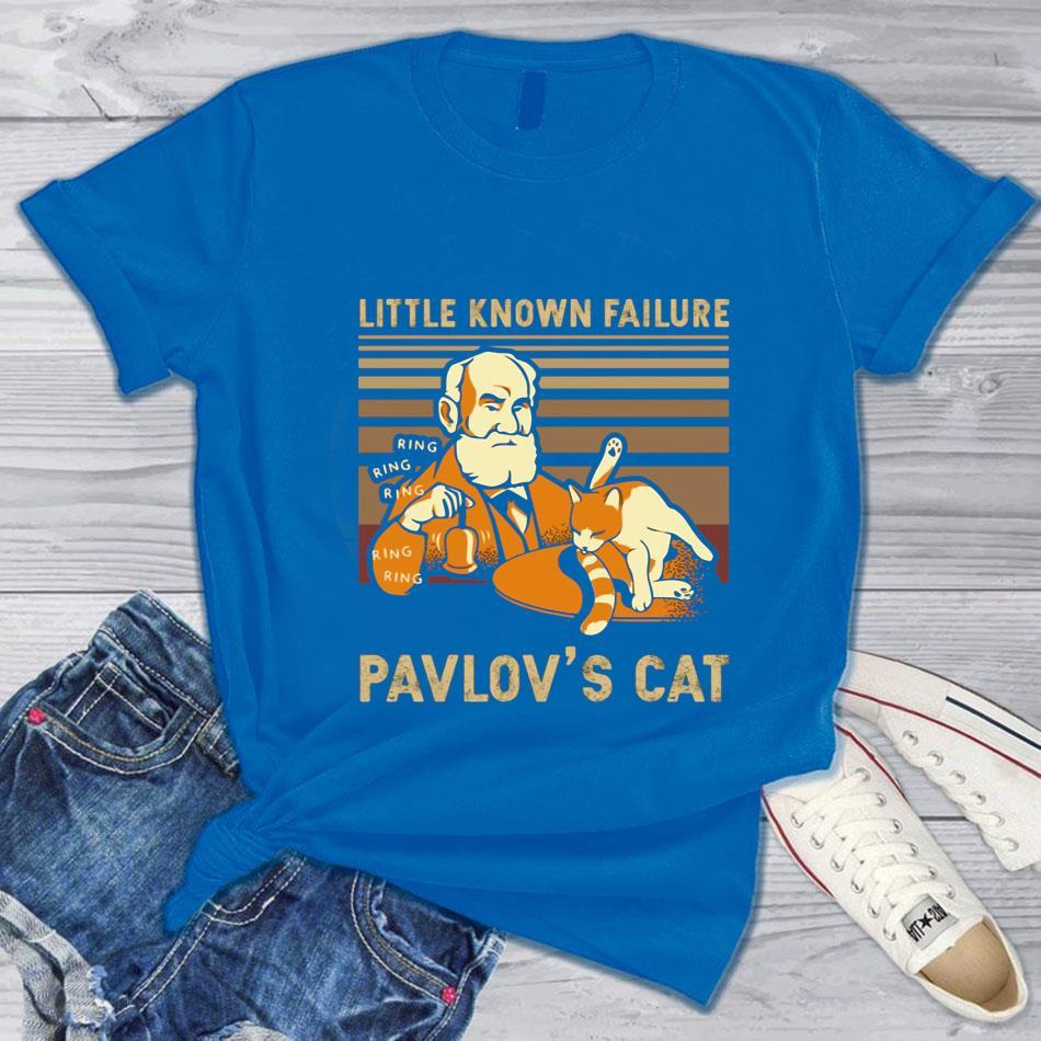 Vintage little known Failure Pavlov's cat t-s blue