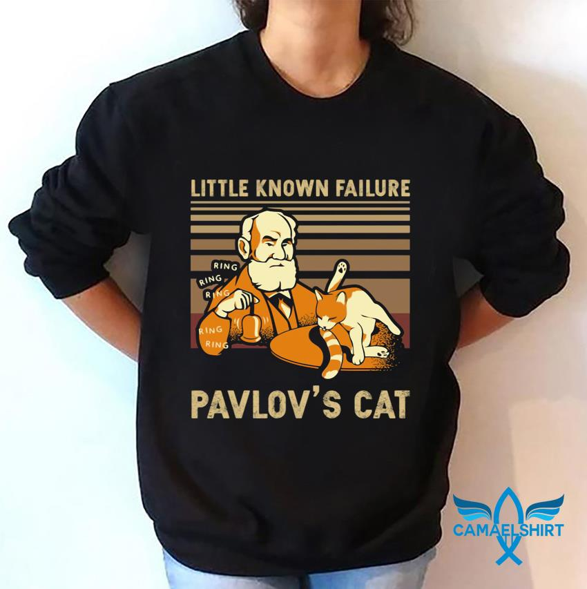 Vintage little known Failure Pavlov's cat t-s sweatshirt