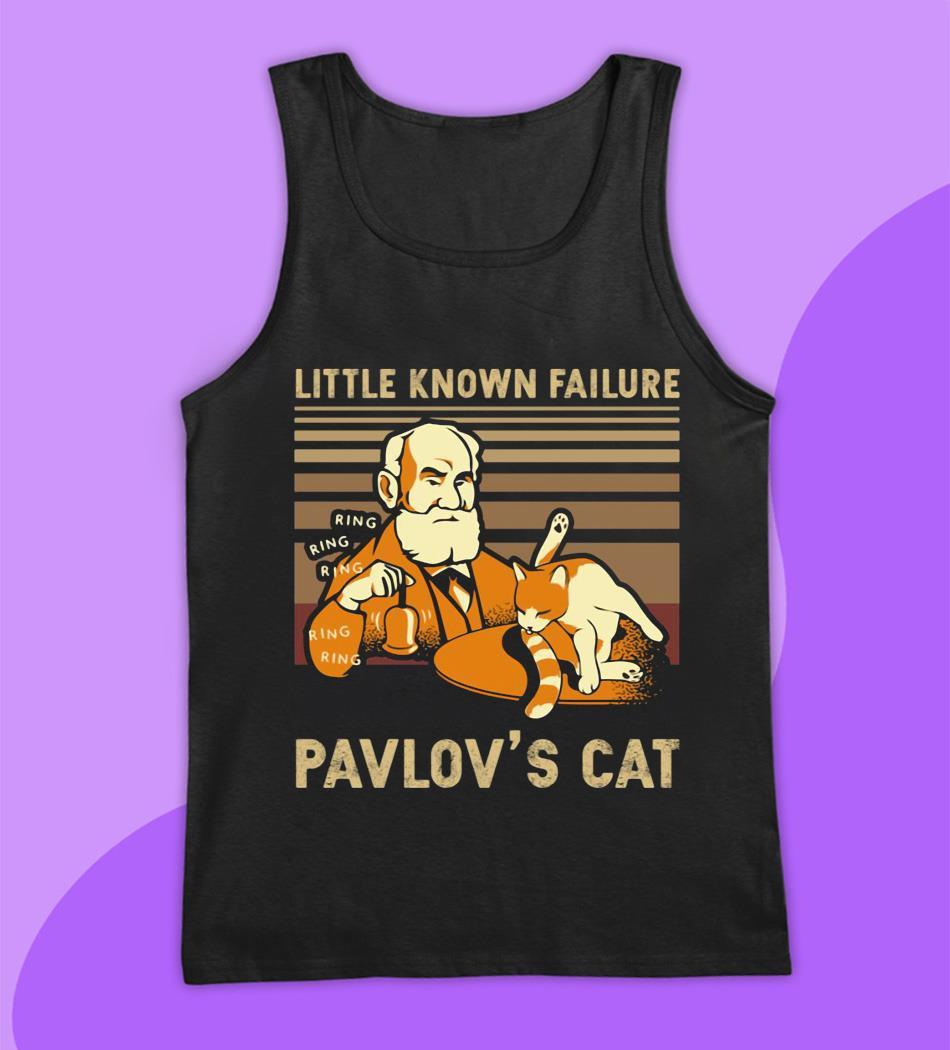Vintage little known Failure Pavlov's cat t-s tank top
