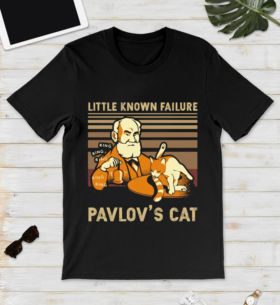 Vintage little known Failure Pavlov's cat t-s unisex
