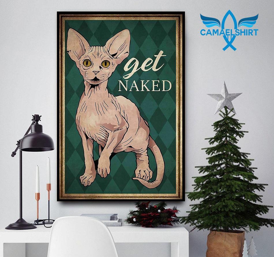Vintage Sphynx get naked vertical poster