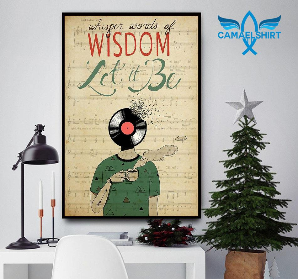Vinyl Head whisper words of wisdom let it be poster