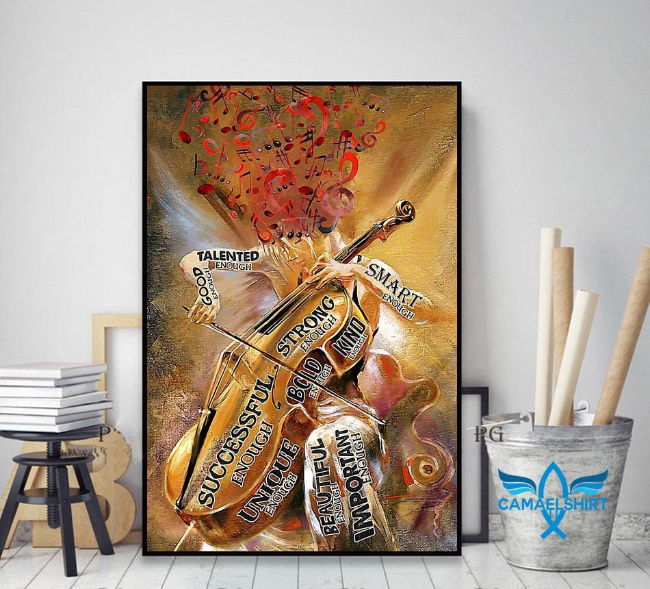 Violin girl talented enough poster decor art
