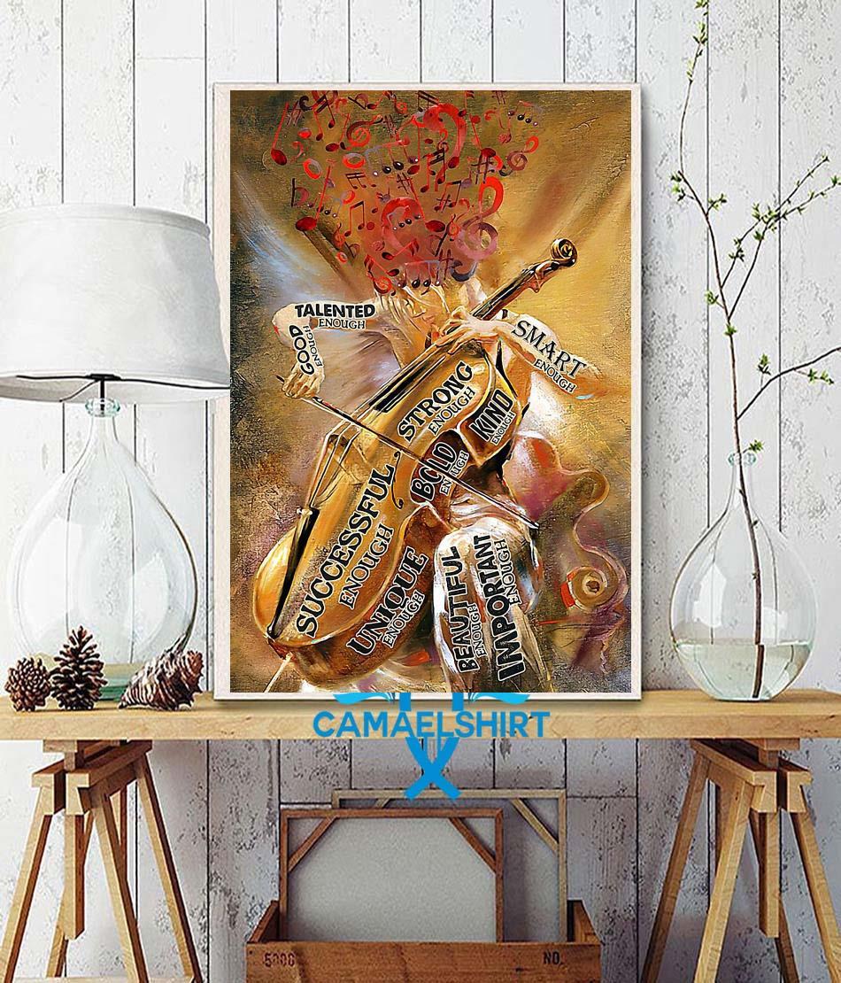 Violin girl talented enough poster wall decor