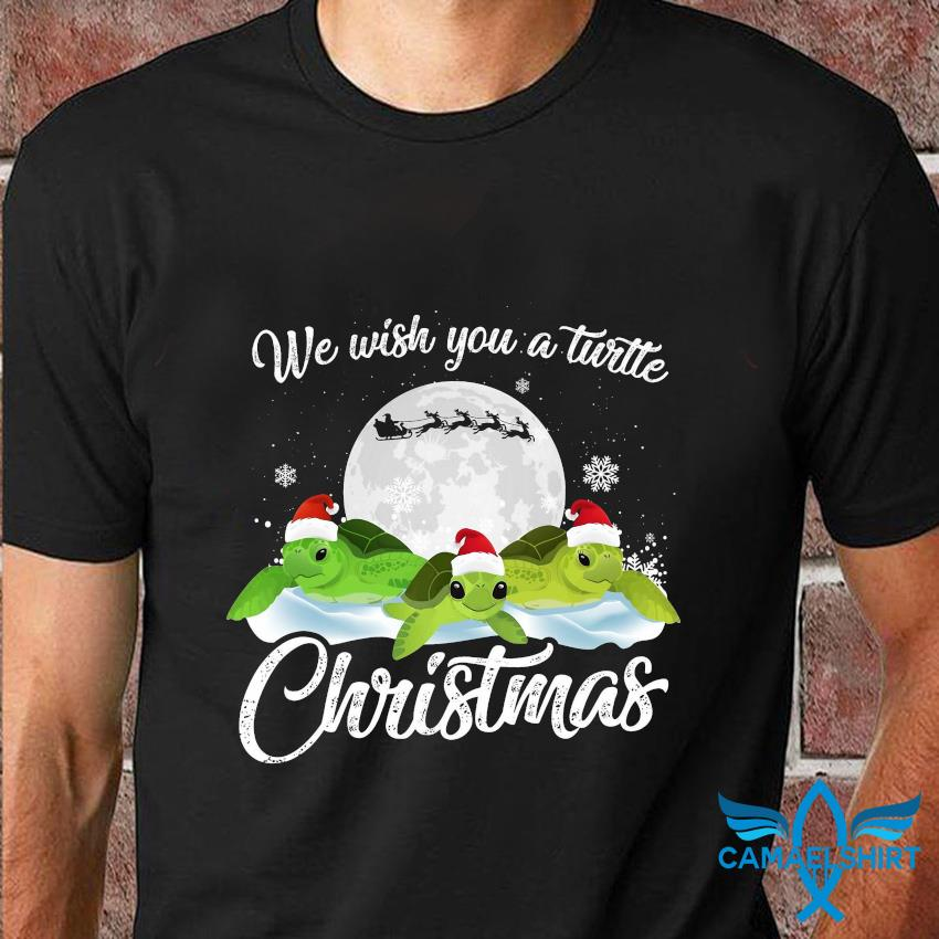 We wish you a turtle Christmas t-shirt