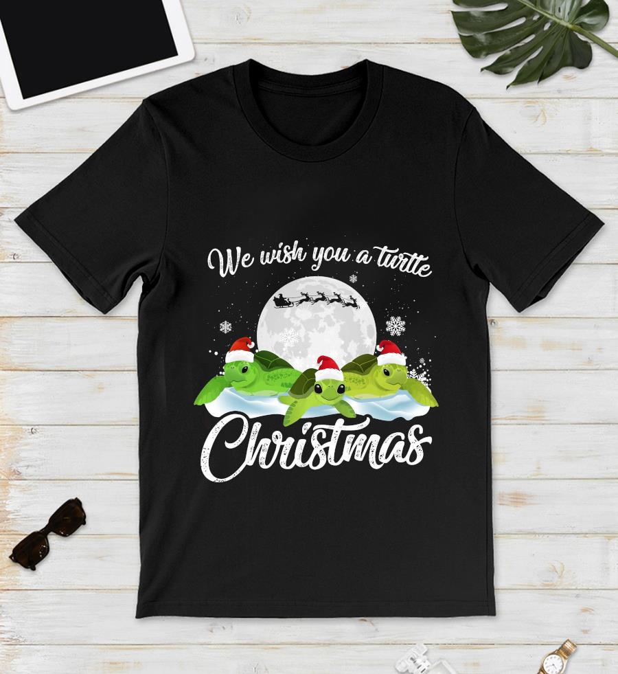 We wish you a turtle Christmas t-s unisex