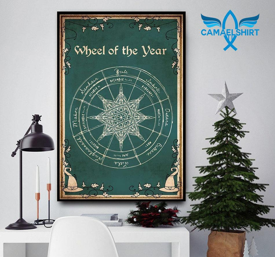 Wheel of the year gothic magic poster