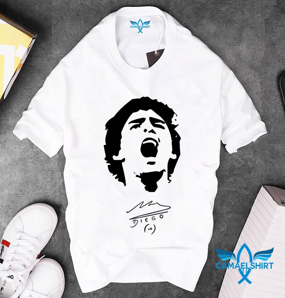 10 Diego Maradona 1960 2020 scream t-s unisex