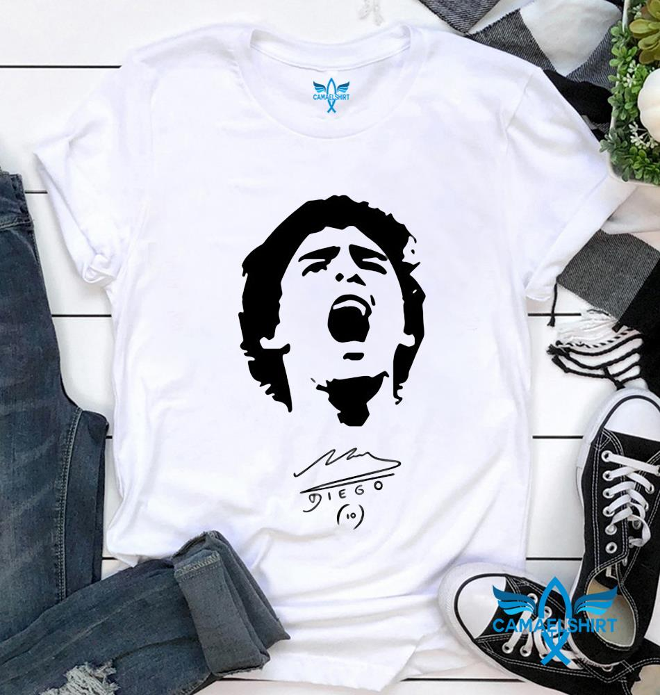 10 Diego Maradona 1960 2020 scream t-shirt