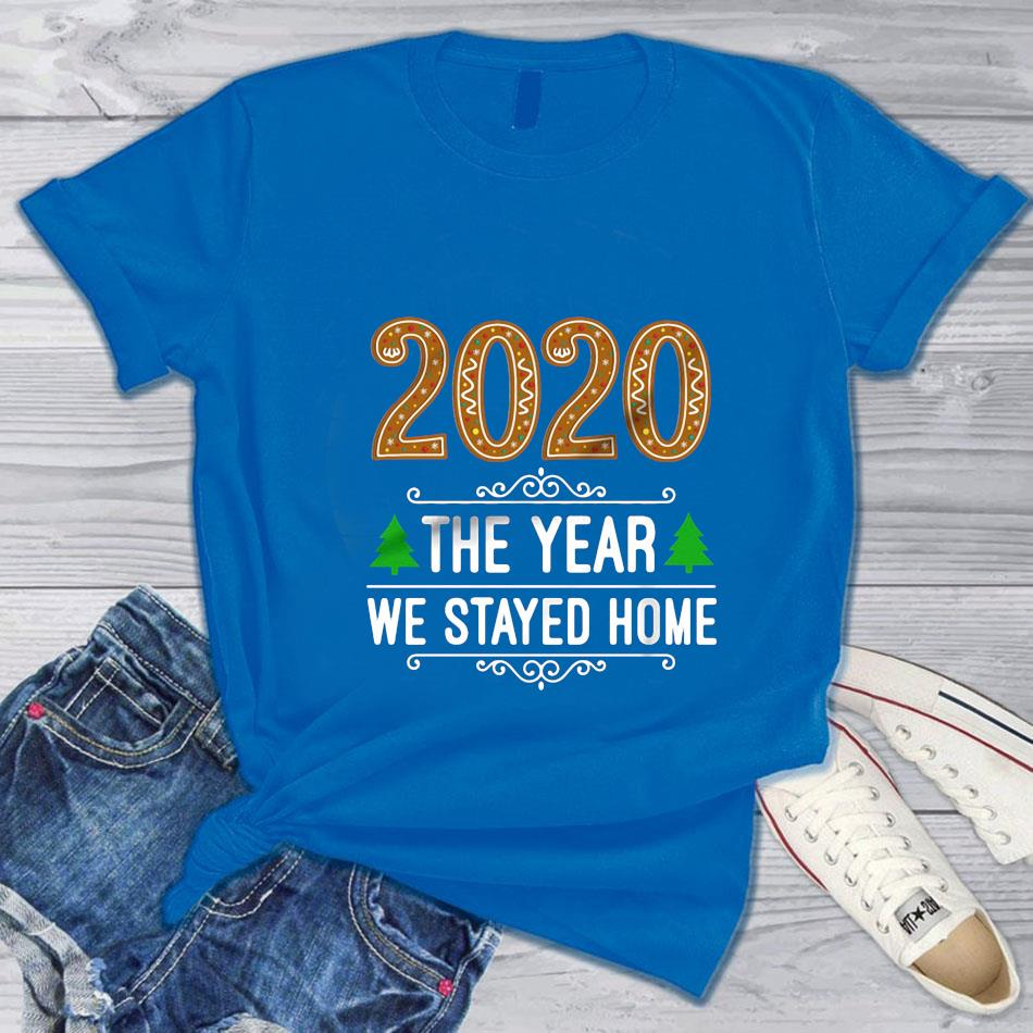 2020 the year we stayed home Christmas t-s blue