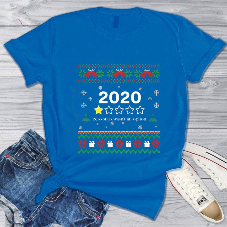 2020 zero stars wasn't option Christmas bad review t-s blue