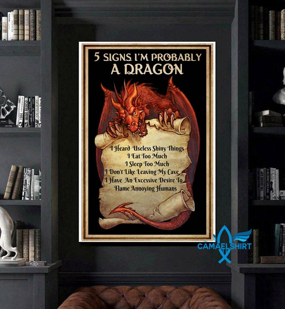 5 signs I'm probably a dragon vertical poster art
