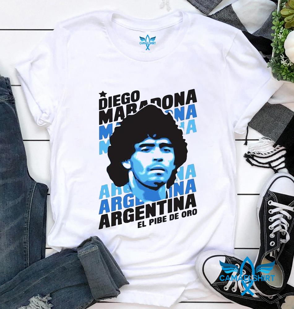 Always remember Rip Diego Maradona Argentina football t-shirt