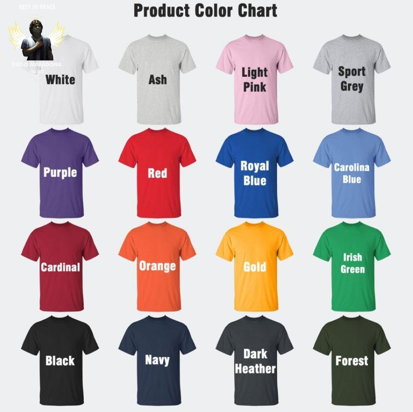 Angel Diego Maradona 1960-2020 signed s Camaelshirt Color chart