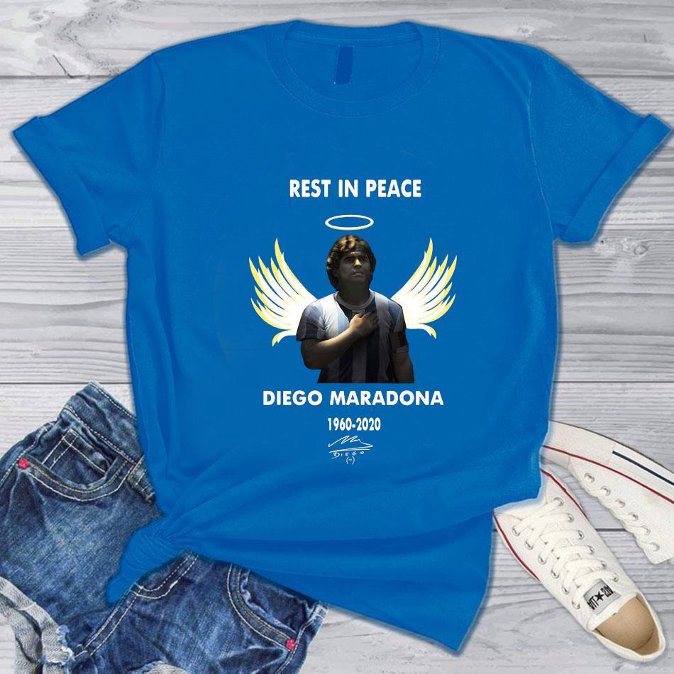 Angel Diego Maradona 1960-2020 signed s blue