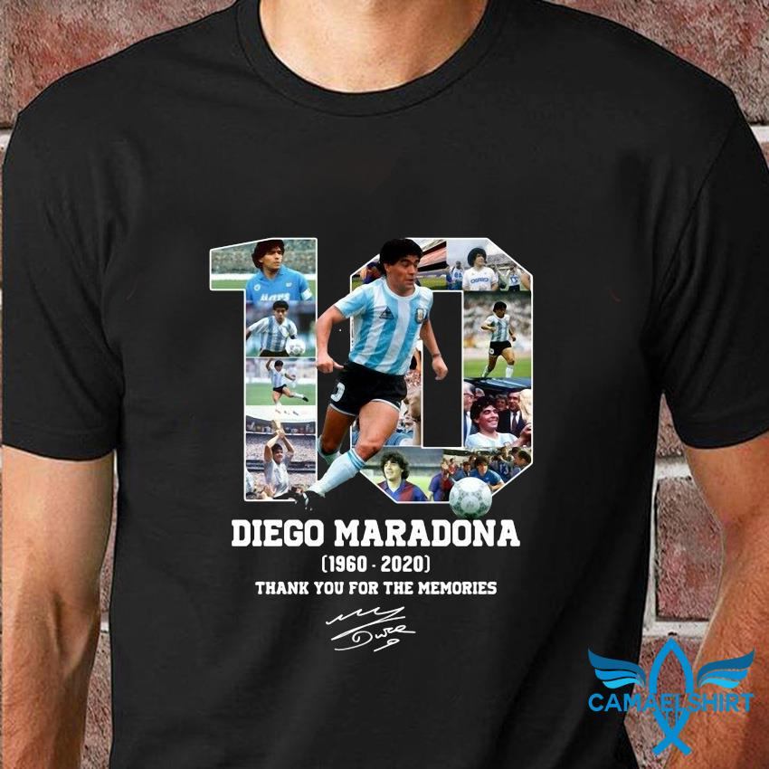 Diego Maradona 1960 2020 thank you for the memories t-shirt