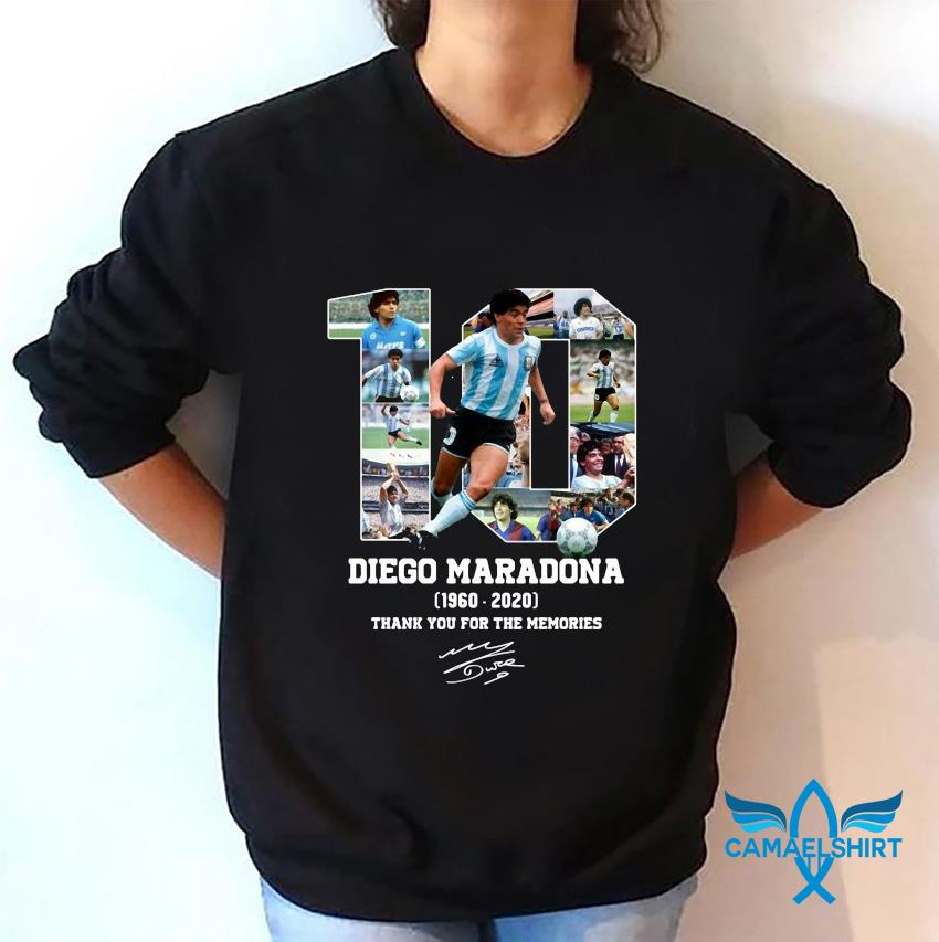 Diego Maradona 1960 2020 thank you for the memories t-s sweatshirt
