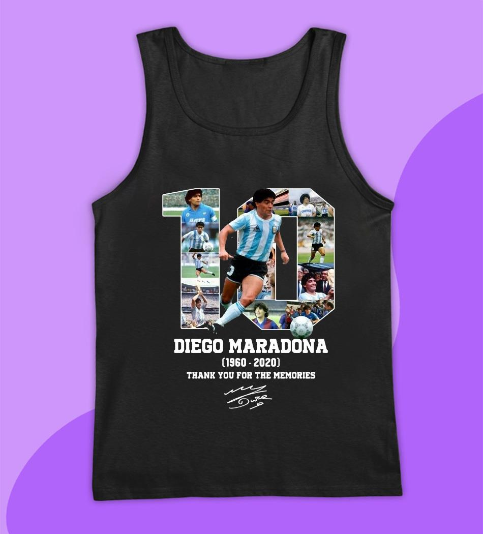 Diego Maradona 1960 2020 thank you for the memories t-s tank top