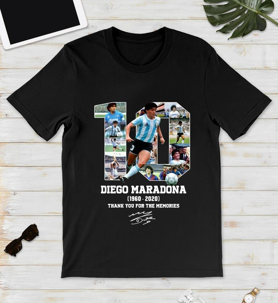 Diego Maradona 1960 2020 thank you for the memories t-s unisex