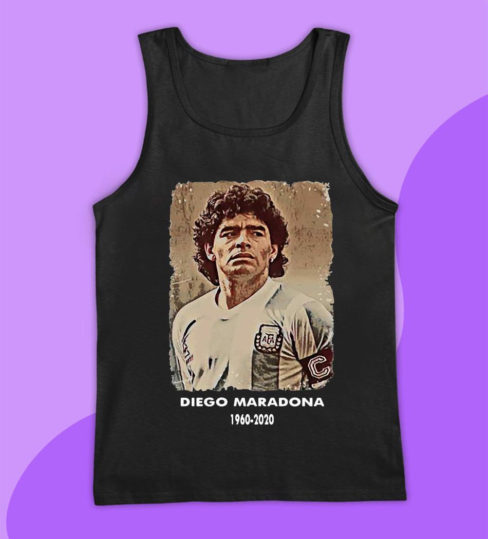 Diego Maradona Argentina soccer legend big loss t-s tank top
