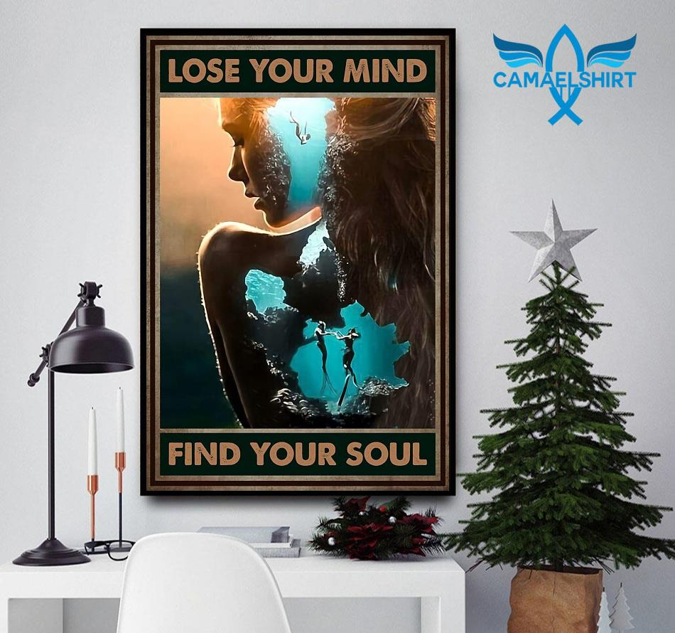 Diving couple lose your mind find your soul poster