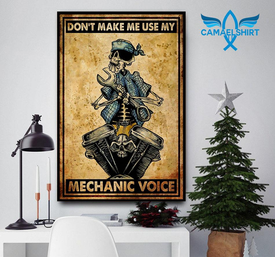 Don't make me use my mechanic voice vertical poster