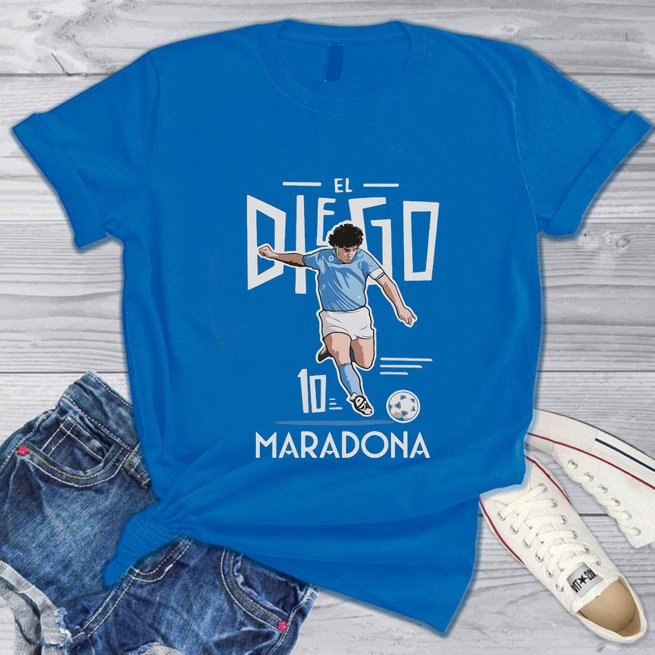 El Diego Maradona 10 rest in peace 1960-2020 s blue