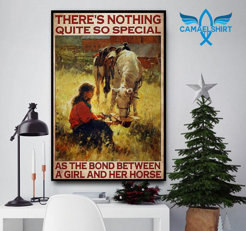 Horse girl there's nothing quite so special vertical poster