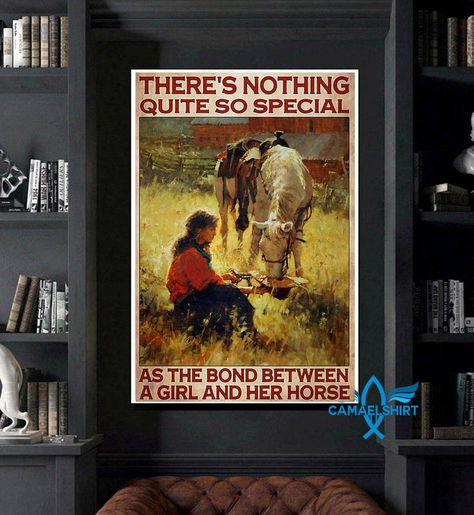 Horse girl there's nothing quite so special vertical poster art