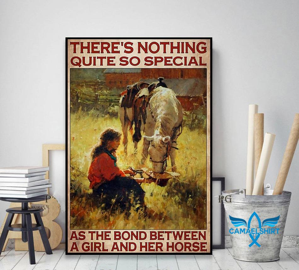 Horse girl there's nothing quite so special vertical poster decor art