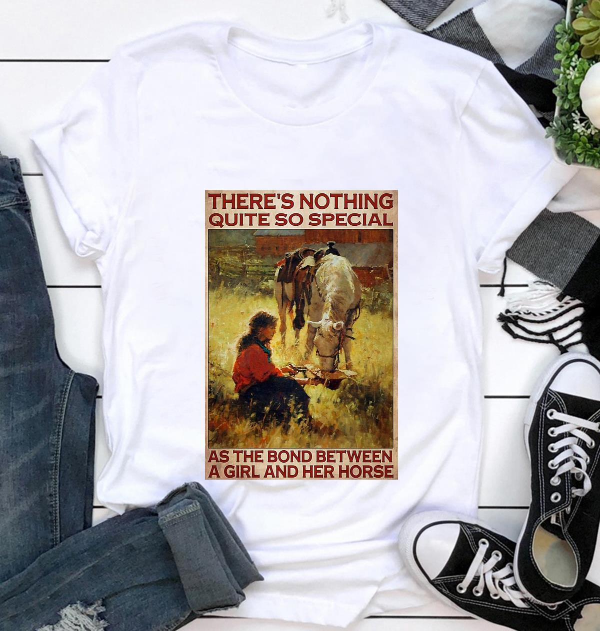 Horse girl there's nothing quite so special vertical poster t-shirt