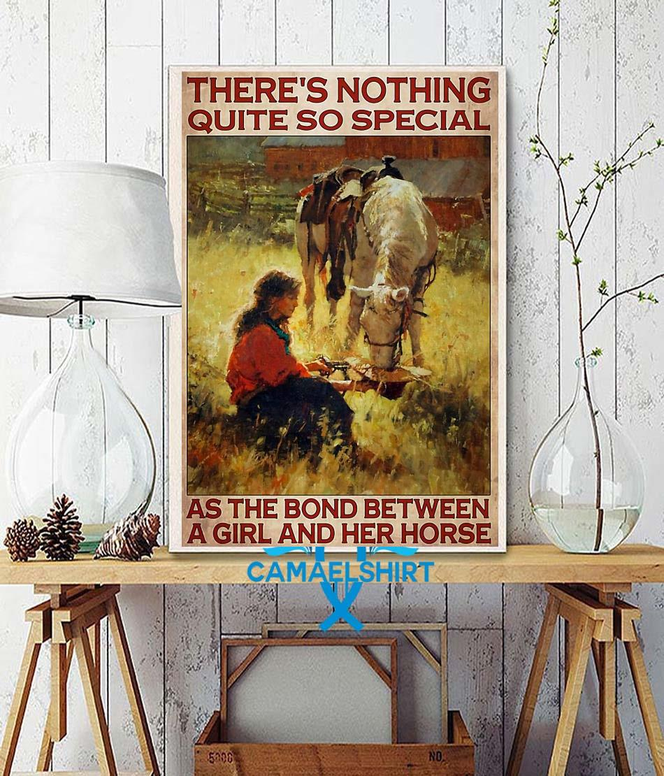 Horse girl there's nothing quite so special vertical poster wall decor